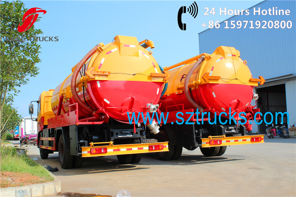 DFAC tianjin Sewage vacuum suction trucks