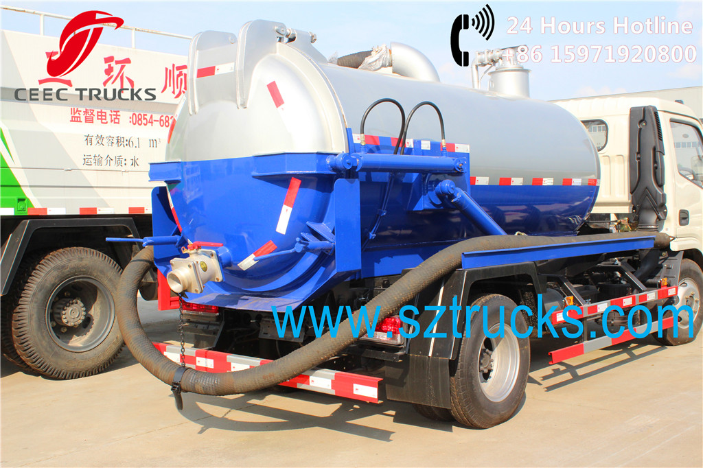 Mini DFAC 4000Liters vacuum sewage suction trucks