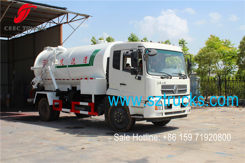 Combined Suction and Jetting Sewage Cleaner Trucks