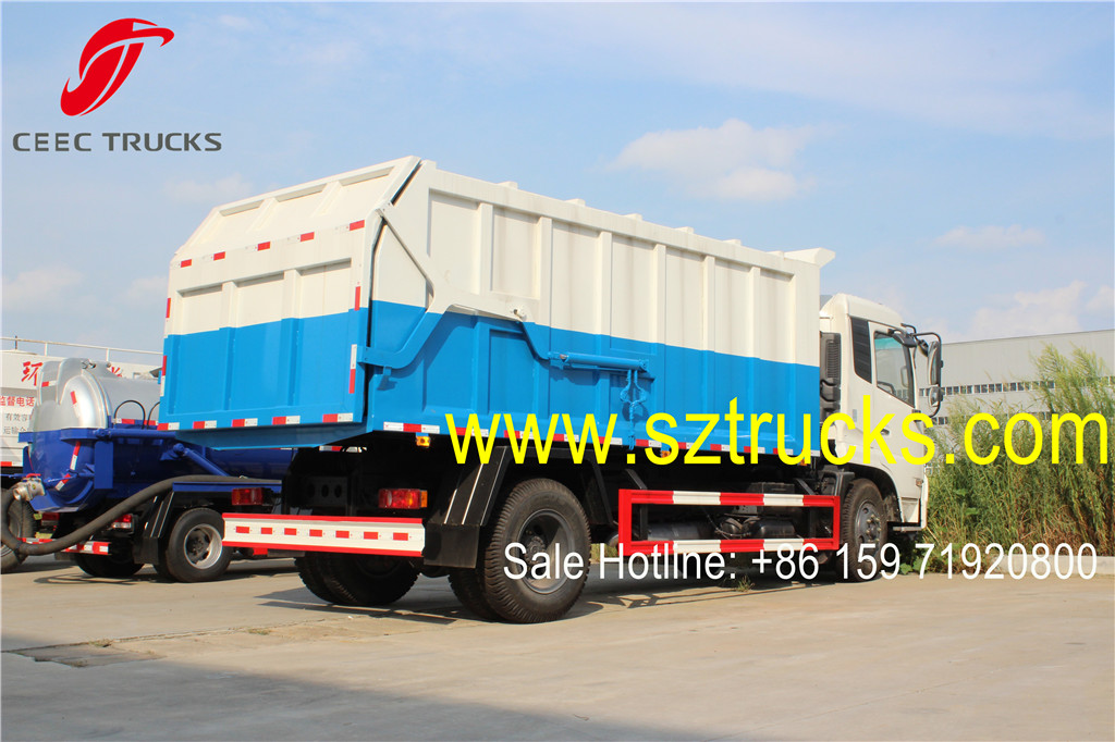 DFAC brand 10000liters sealed docking garbage collection trucks service for rubbish station
