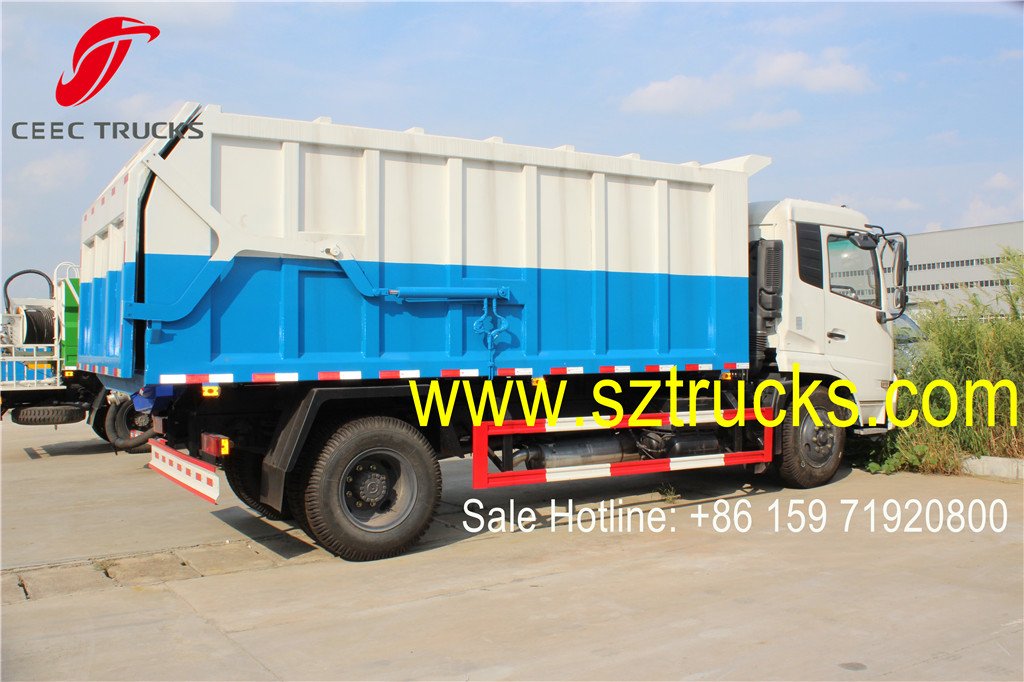 High quality international DongFeng 10Tons docking rubbish trucks for sale low price