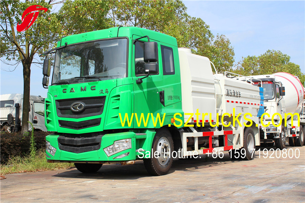 CAMC high pressure jetting trucks with 8CBM capacity