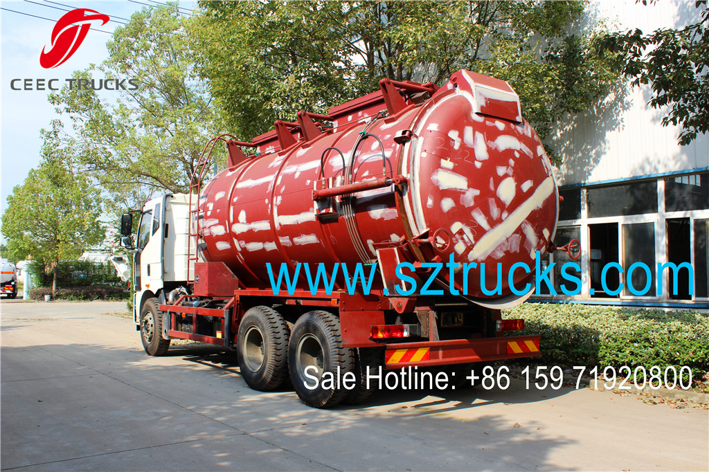 FAW 14-18CBM sludge transportation truck