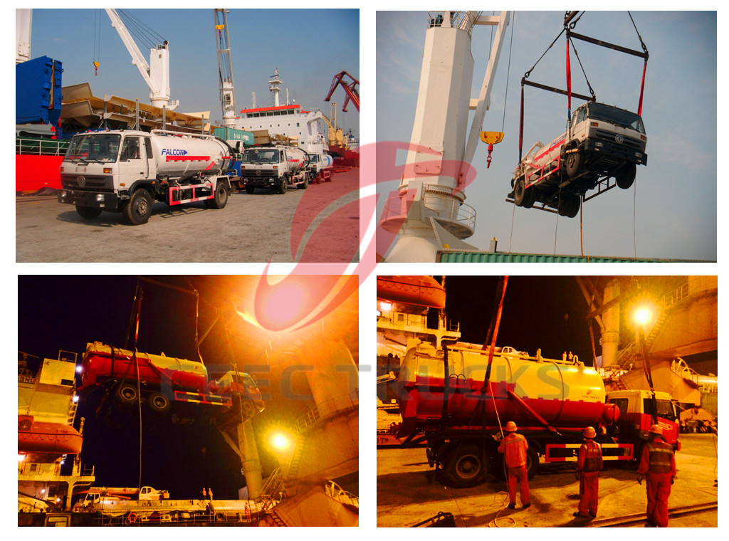 CEEC Vacuum sewage suction trucks for shipment