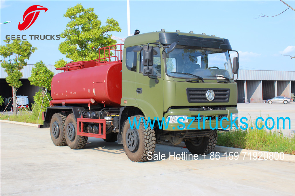 DFAC 6x6 military usage firefighting tanker trucks