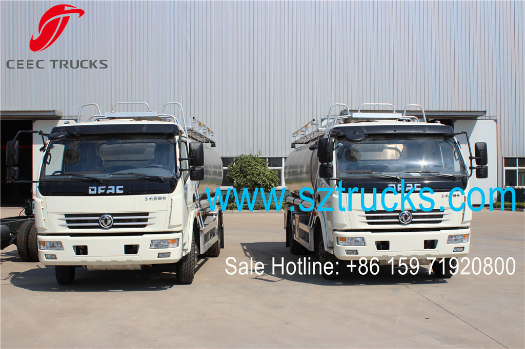 DFAC stainless steel 8000liters fuel tanker trucks