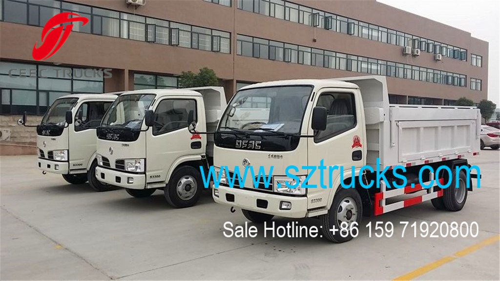 DFAC 4Tons garbage dumper trucks with hydraulic locking door