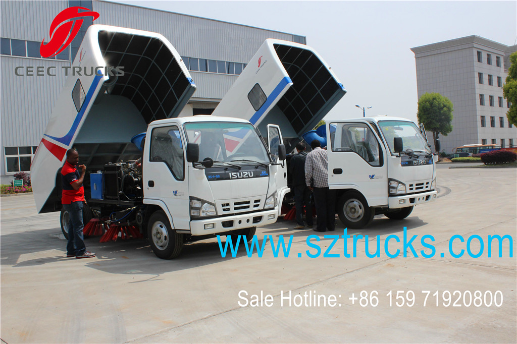 CEEC road sweeper trucks export to Nigeria