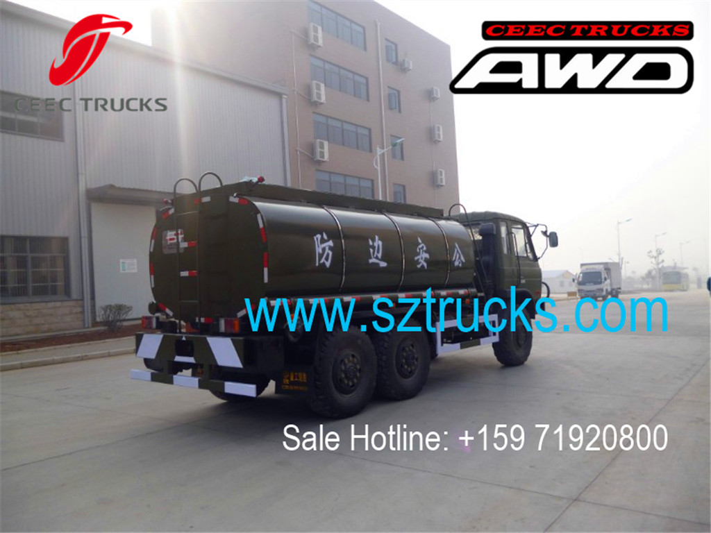 DONGFENG 6x6 water tanker trucks for government project