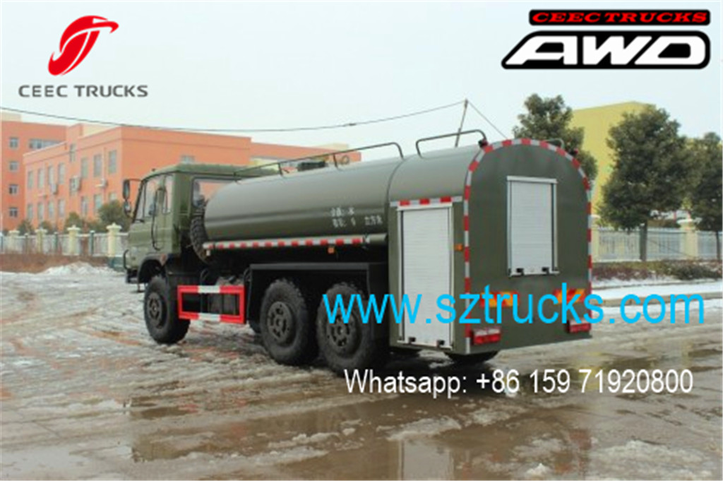 DONGFENG 6x6 water tanker trucks with high pressure jetting system