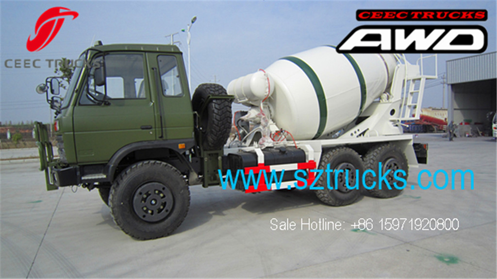 DFAC 6x6 AWD concrete mixer trucks hot sale