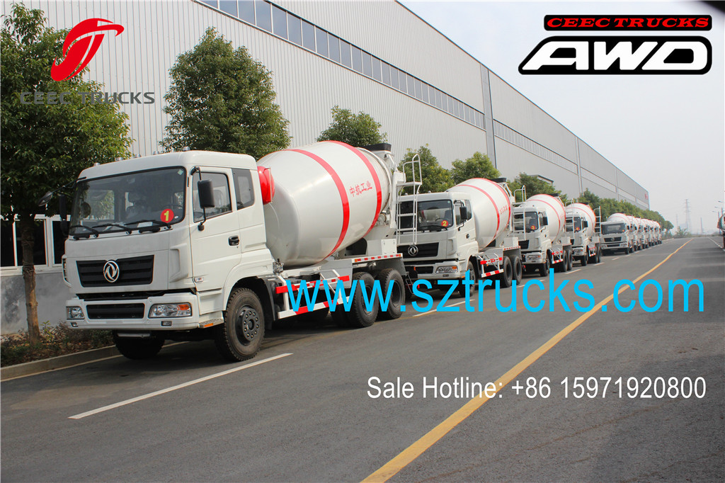 DFAC 6x6 AWD concrete mixer trucks batch production
