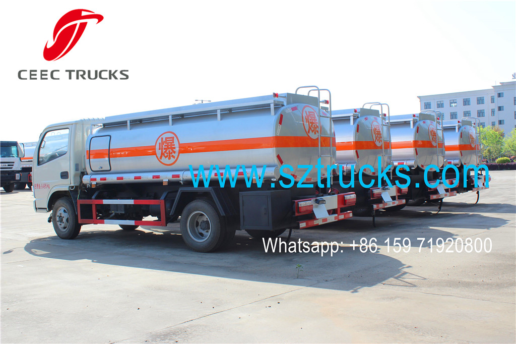 DFAC brand fuel tanker trucks previous export