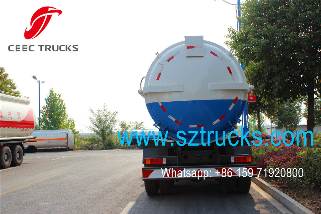 DONGFENG 16000liters vacuum sewage suction tanker trucks export
