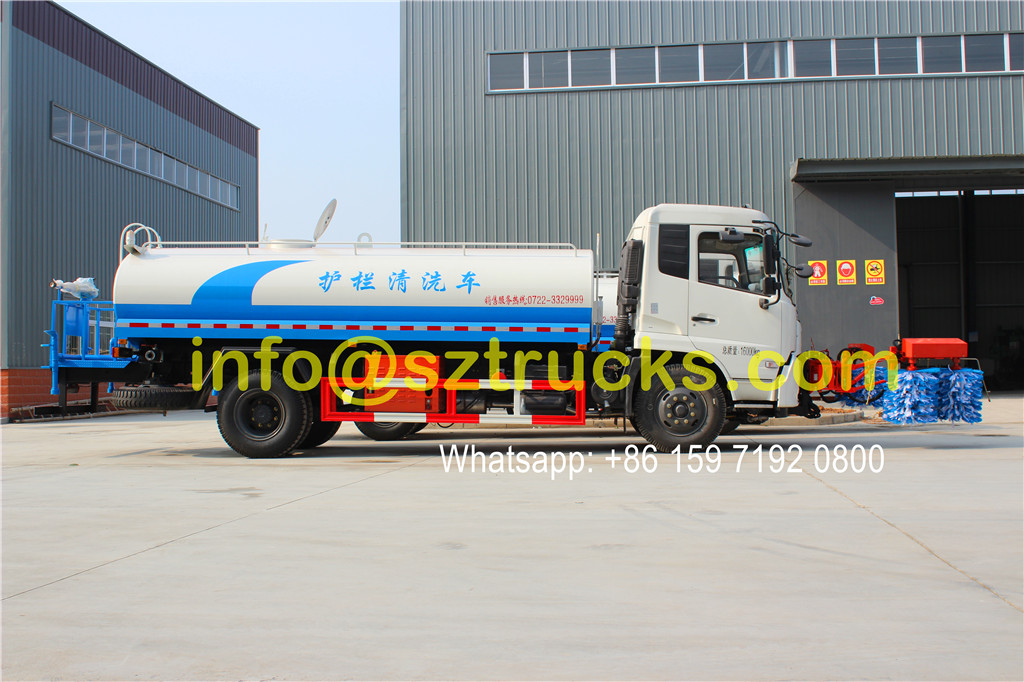DongFeng Tianjin 10CBM guardrail washing truck for sale