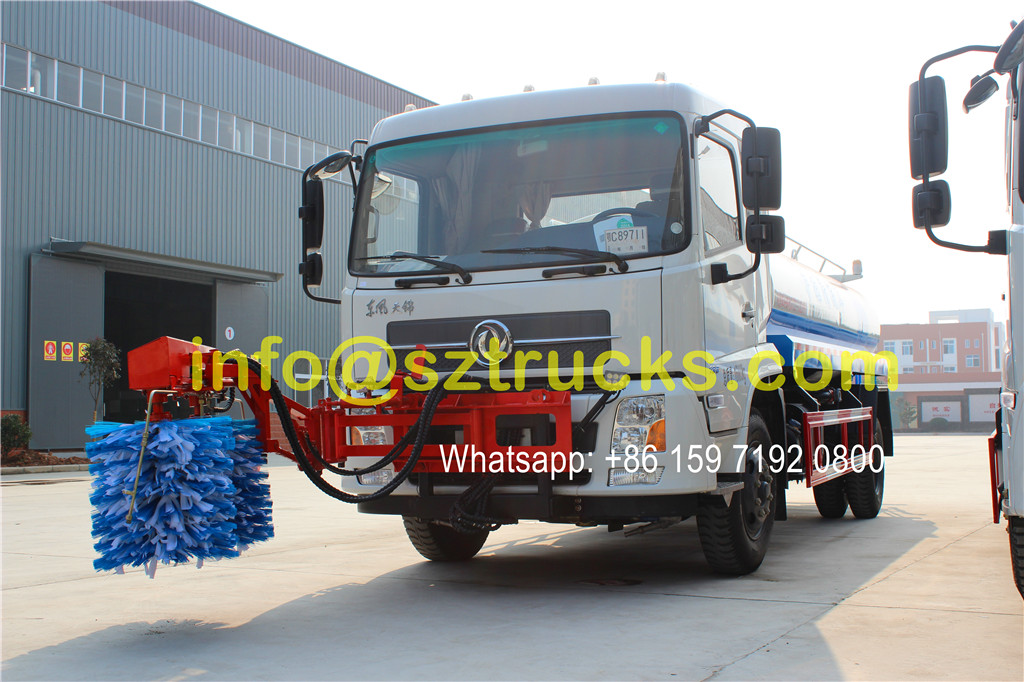 2016 design 10CBM guardrail washing truck
