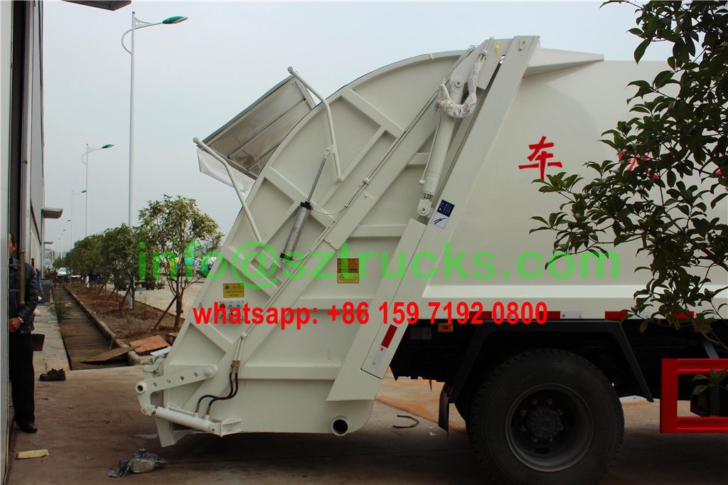 14CBM DFAC garbage compactor truck rear loading system