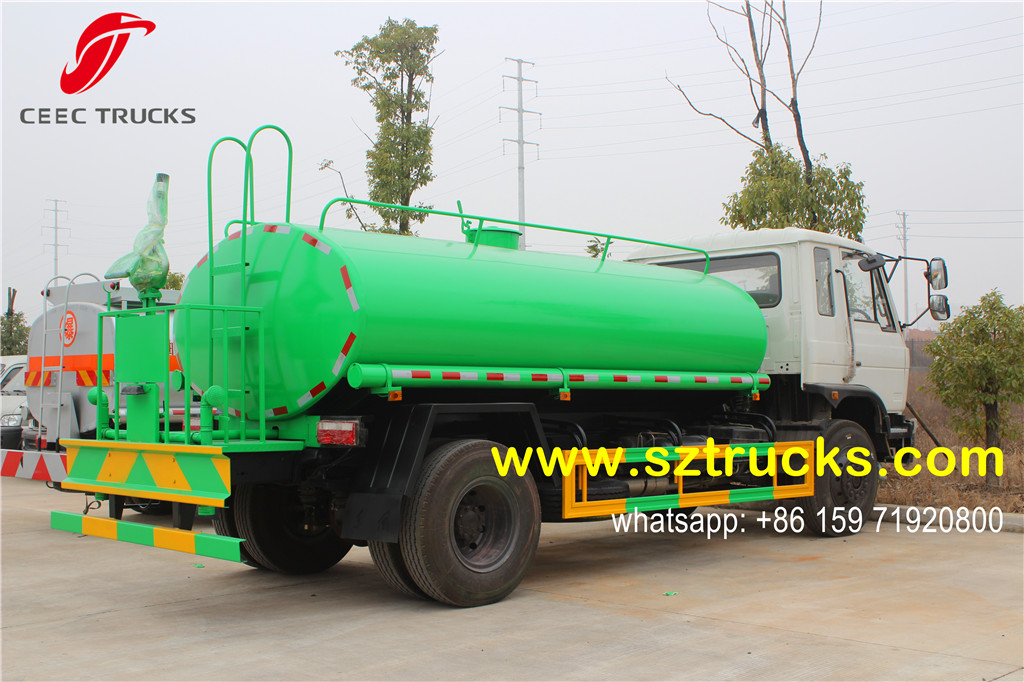 10CBM green painting water tanker truck for Ecuador