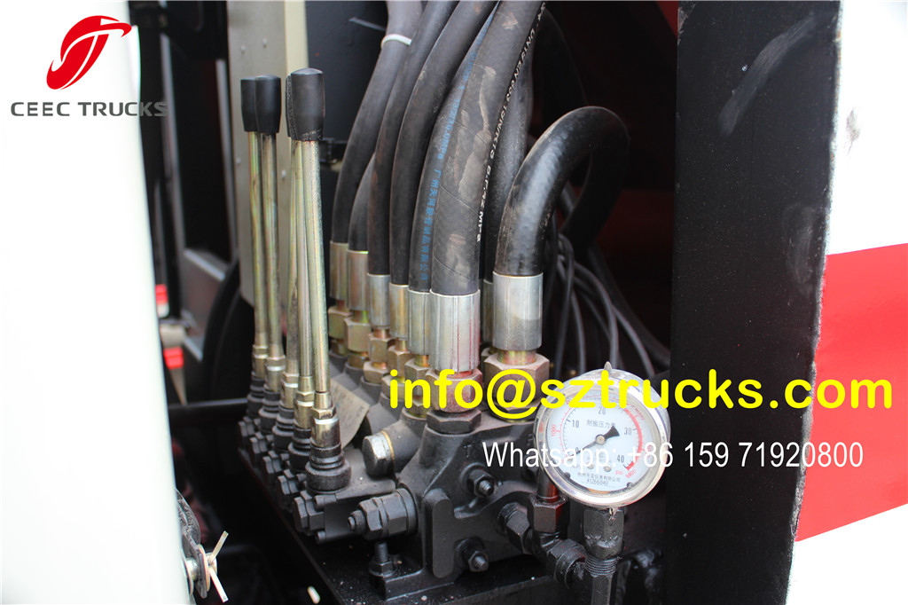 4CBM garbage compactor truck manual operation joysticks