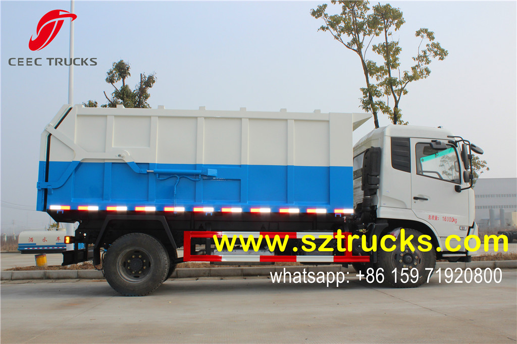 DFAC 14000liters docking garbage truck