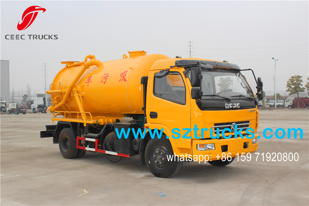 2016 designed 6CBM vacuum sewage suction truck