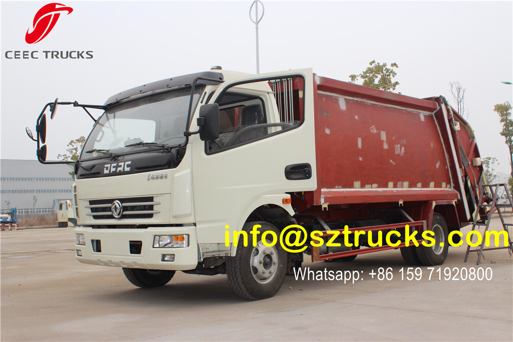 Manufacturer provide 6CBM trash compressor truck