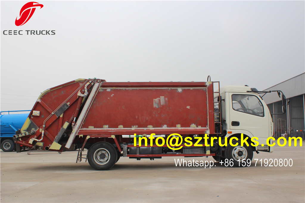 garbage compression truck 6000liter capacity