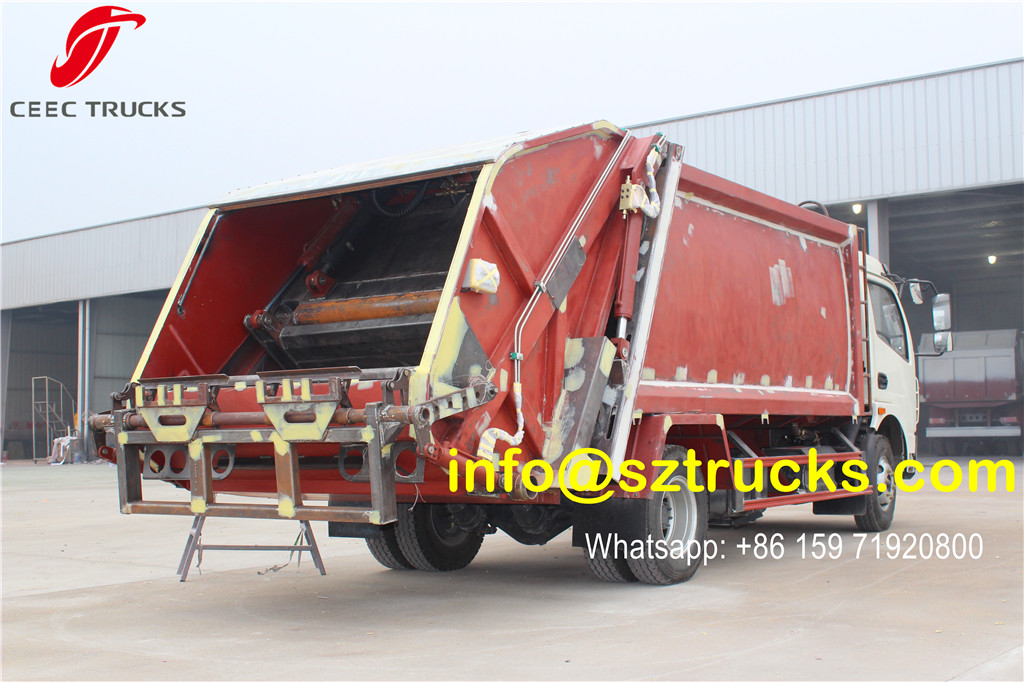 DFAC 6CBM trash compressor truck for painting