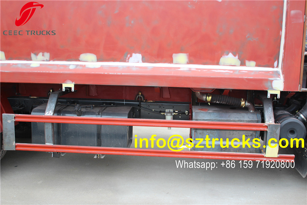 DFAC 6CBM trash compressor truck for export