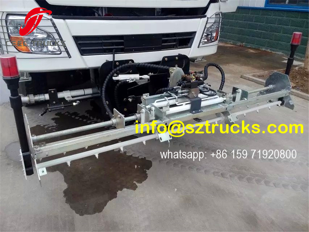 RHD 375HP high pressure jetting truck front spraying system