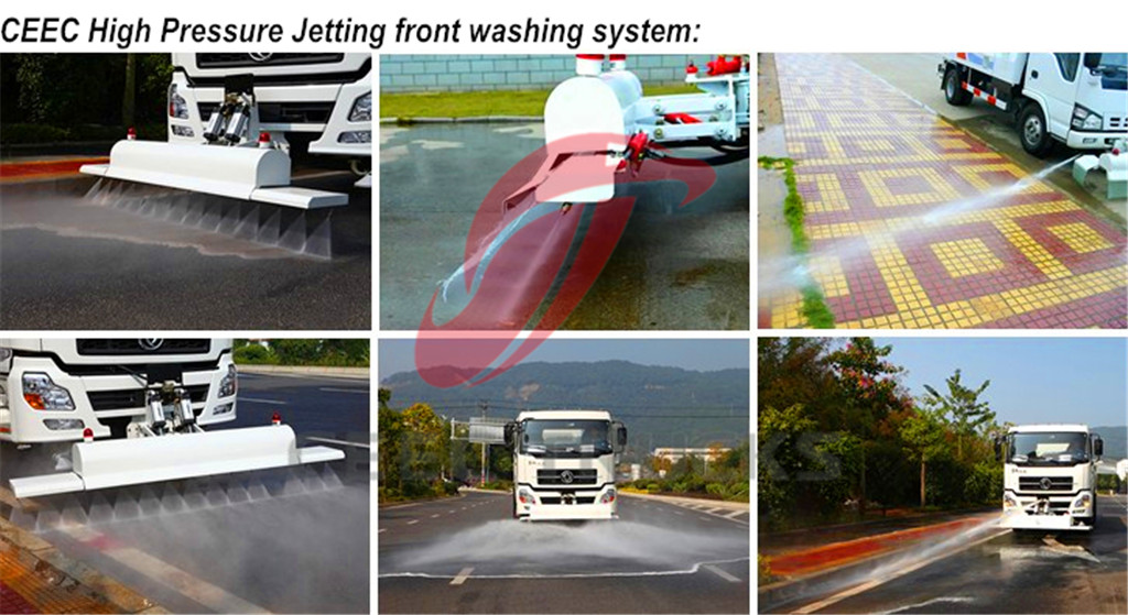 High Pressure Jetting Truck Front washing