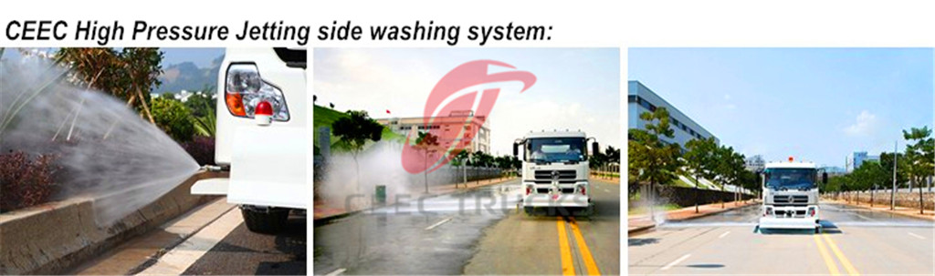 High Pressure Jetting Truck side washing