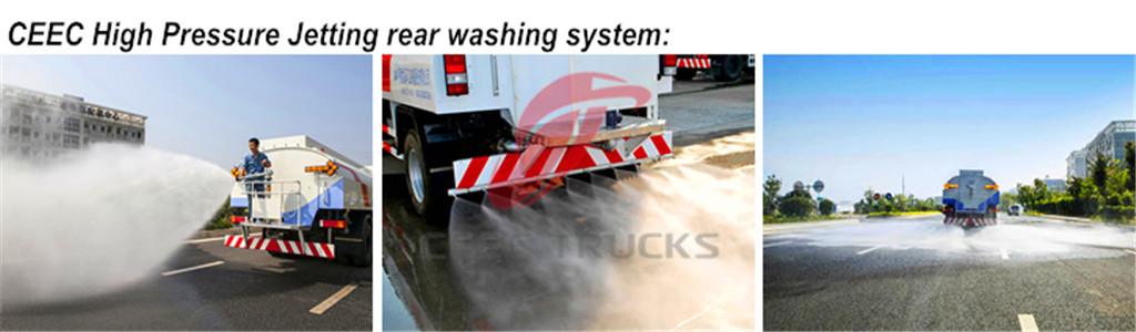 High Pressure Jetting Truck Rear Washing Truck