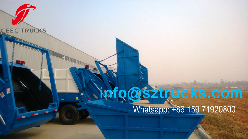 10CBM trash compressor truck wholesale with swing arm