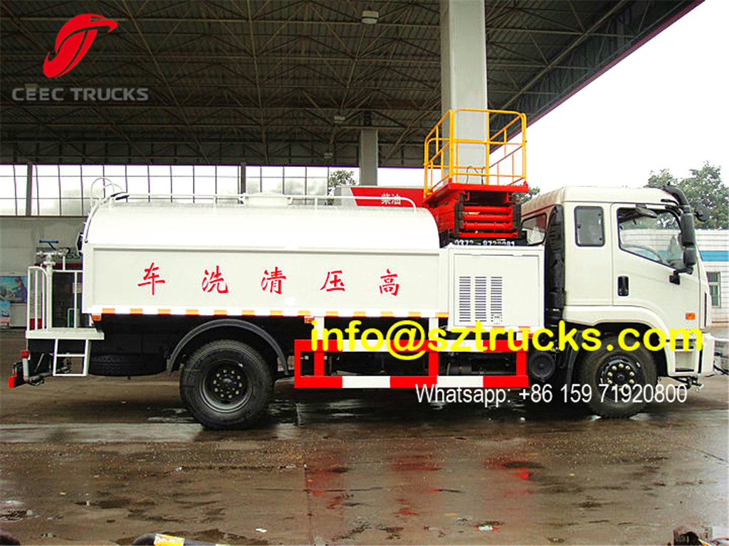 Hydraulic lifting platform installed on High pressure jetting truck