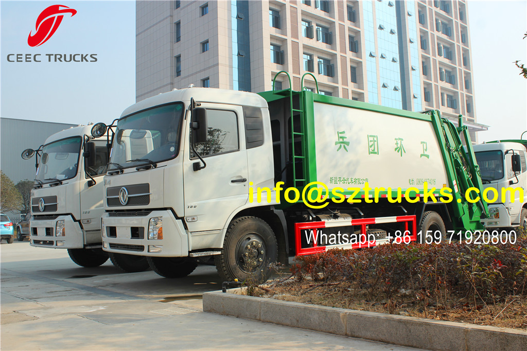 High quality garbage compactor truck