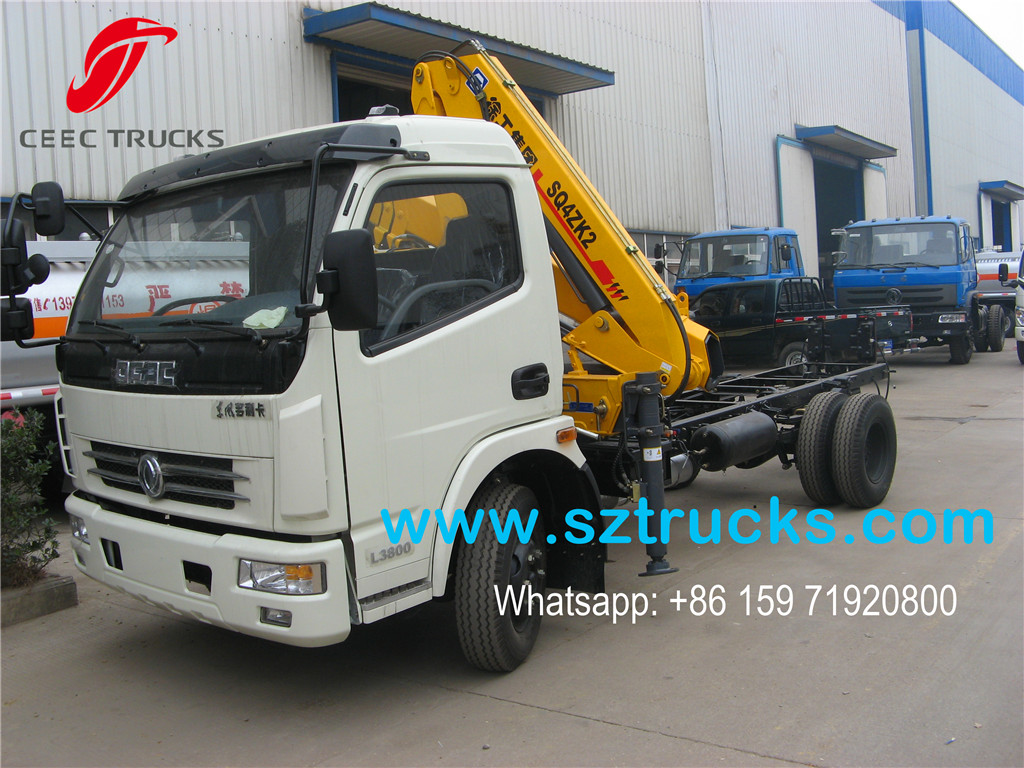 Best 4 Ton Small Used Crane Mounted Truck With 2 Knuckle