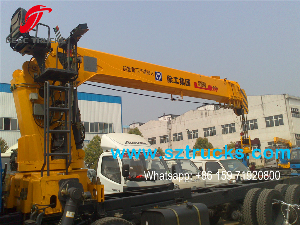 16Tons telescopic truck mounted crane