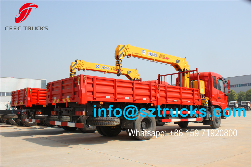 2units DFAC 6.3T truck mounted crane for Tanzania