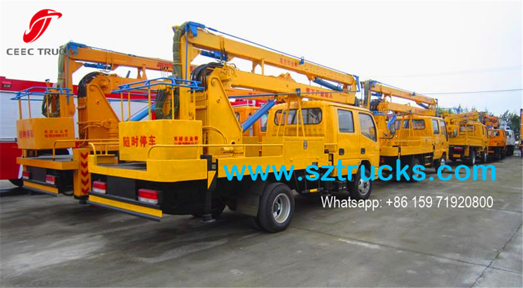 Previous export cases for Bucket lifting truck
