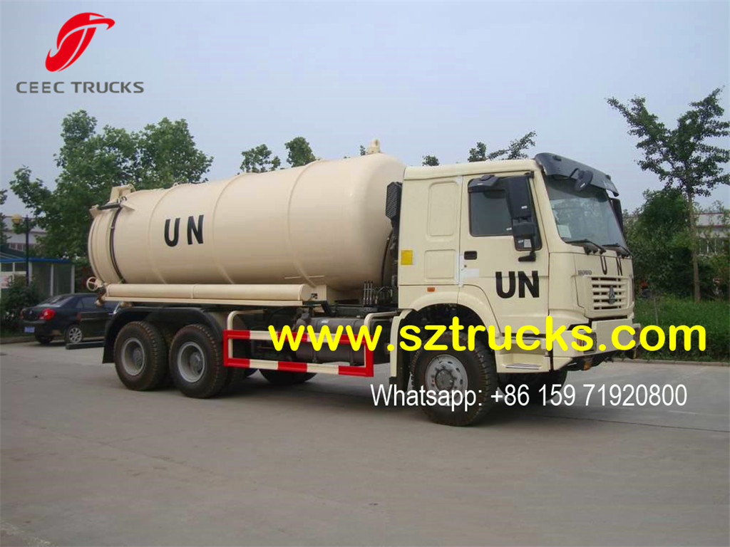 sinotruk cesspit emptier for UN project