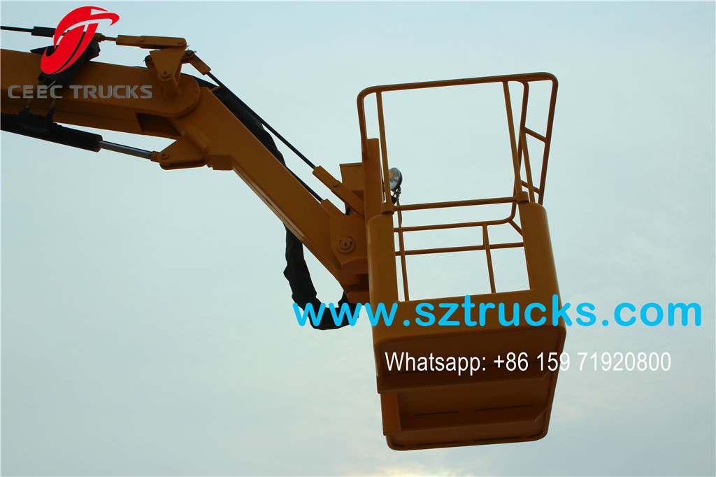 ISUZU 18m Aerial Working Platform lifting bucket