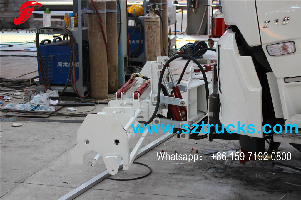 8000L High pressure jetting truck front spraying system
