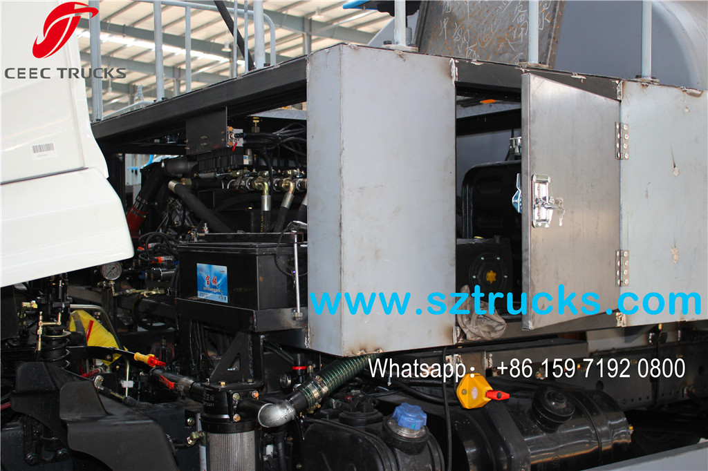 8000L High pressure jetting truck operating device