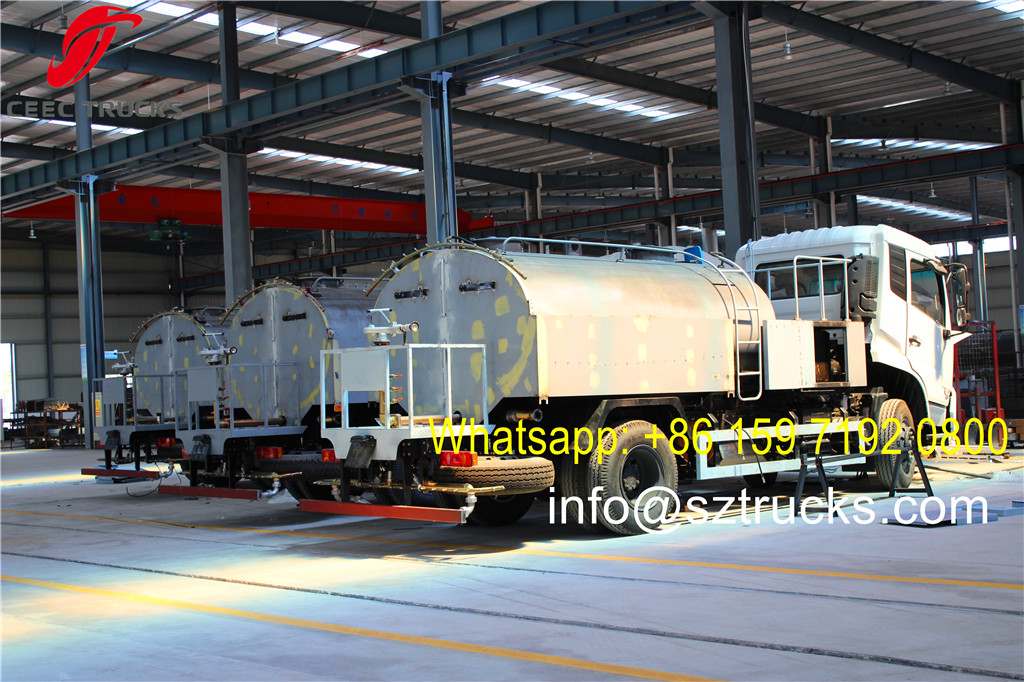 8CBM Dongfeng high pressure jetting truck under production