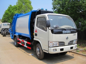 4CBM best garbage compactor truck equipped with CHAOCHAI engine