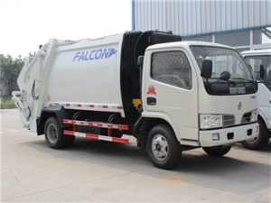 5CBM compression garbage truck for garbage collection and transportation