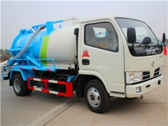 4000Liters Cesspit Empiter truck with vacuum pump for export