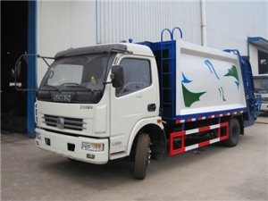 8CBM Refuse Compression Truck with CUMMINS engine for export