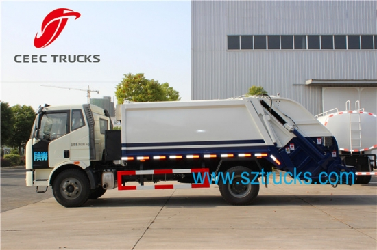 Professional 8 12cbm Faw Refuse Compactor Truck For